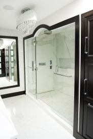Master Bathroom, walk in shower, custom cabinetry