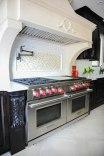 Custom Hood, Wolf range, Caesarstone countertops, custom cabinetry
